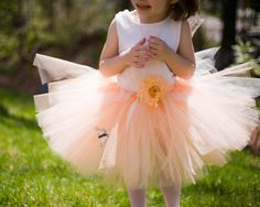 Hey, I found this really awesome Etsy listing at https://www.etsy.com/listing/73685131 /peaches-cream-tutu-with-matching-wings  flower girl 5T