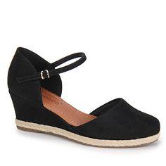 Sapato Anabela Espadrille Feminino Bebecê - Preto