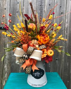 Fall Gather Arrangement by Holiday Baubles