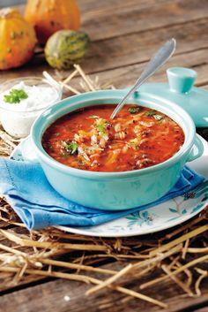 Lammasjauhelihakeitto   K-ruoka Soup Recipes, Cooking Recipes, Koti, Soup And Salad, Soups, Salads, Fresh, Ethnic Recipes, Chef Recipes