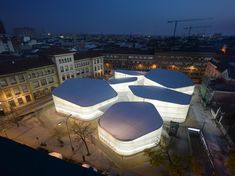 Temporary Market Halls in Madrid by Nieto Sobejano Arquitectos Spanish Architecture, Commercial Architecture, Futuristic Architecture, Beautiful Architecture, Contemporary Architecture, Landscape Architecture, Interior Architecture, Architecture Images, Interesting Buildings