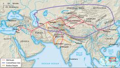 Map of Trade Routes on Silk Road (Picture from Book) (Page 319)