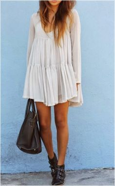 Great Design Black Booties and White Dress