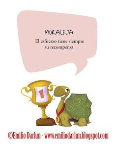 """MORALEJA de la fábula """"La liebre y la tortuga"""" del libro """"Fábulas para leer en familia vol.1"""" ilustrado por Emilio Darlun. ©Emilio Darlun - www.emiliodarlun.blogspot.com #fable #fabula #moraleja... #Ilustracion #Illustration #IlustracionInfantil #infantil #children #childrenillustration #books #picturebooks #Dibujo #Emilio #EmilioDarlun #Darlun Ver más"""