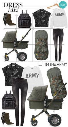 oh hay - this would be MY mommy style (SWEET Bugaboo stroller by Diesel)