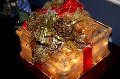 glass block christmas lights - Google Search