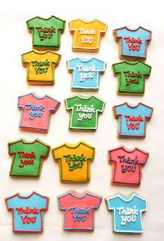 t-shirts sugar cookies