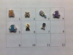 BABY Floating charm pick one by JMLReflections on Etsy