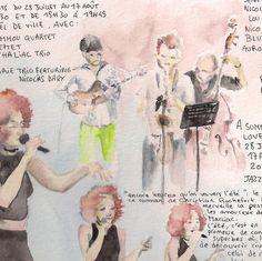 http://clelia.org/illustrations Croquis réalisés au festival Jazz in Marciac 2014