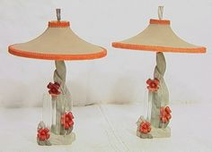 1950's Reglor of California chalkware lamps