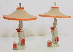 1950's Reglor of California chalkware lamps