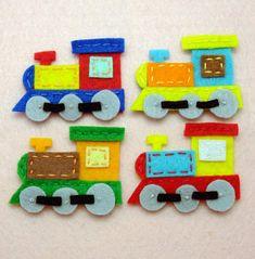 8 pcs Handmade train felt appliques G065-Ass by aprilgirlsgallery