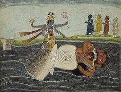 Lord Vishnu Incarnation - Matsaya Avtaar - Killing Hayagriva