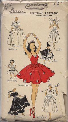 Vintage dance costumes