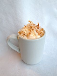 This Toasted Coconut Hot Chocolate is easier than it looks...really, we promise!
