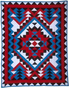 "GLQC Collections - Navajo, Ruth and Vera Tyler Choctaw, Clifton, Louisiana c1996 Cotton/polyester with polyester filling 78 1/2"" x 100"""