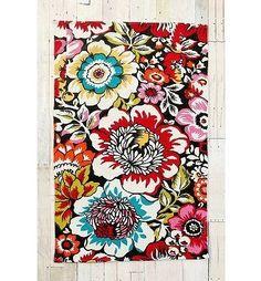 floral printed rug