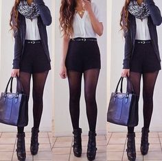 Shorts and tights huh.... Must try this!