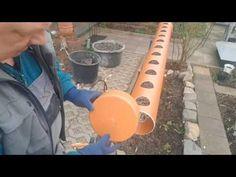 Грядка для клубники из трубы  продолжение - YouTube Aquaponics, Watering Can, Garden Design, Home And Garden, Canning, Youtube, Vegetable Garden, Gardening, Strawberries