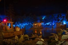 pirates of the caribbean | View of Pirates of the Caribbean from the Blue Bayou restaurant.