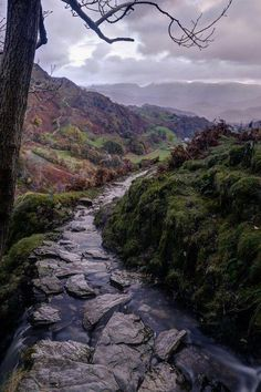 Tilberthwaite Gill, in the southern Lake District of Cumbria just outside of Coniston