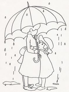 Sisters Under Umbrella in Rain by jeninemd, via Flickr