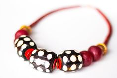 Hey, I found this really awesome Etsy listing at https://www.etsy.com/listing/210905185/ladybird-batik-bone-necklace-kenyan-bone