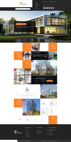 Buy Gensler : Architecture PSD Template by PremiumWebs on ThemeForest. Website Design Inspiration, Website Design Layout, Web Layout, Layout Design, Web Ui Design, Best Web Design, Ad Design, Design Ideas, Graphic Design
