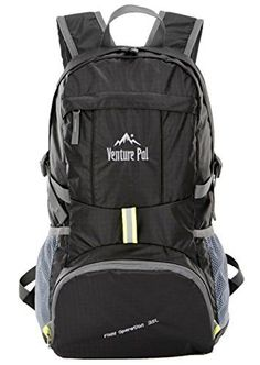 2017 Back-to-School Popular Backpacks Teens & Tweens - Venture Pal Ultralight Lightweight Packable Foldable Travel Camping Hiking Outdoor Sports Backpack Daypack (Black)