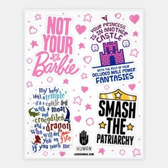 Nerdy Feminism Stickers | Stickers, Sticker Sheets and Vinyl Stickers | HUMAN