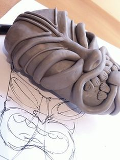 Discover recipes, home ideas, style inspiration and other ideas to try. Ceramic Sculpture Figurative, Sculpture Clay, Clay Art Projects, Ceramics Projects, High School Ceramics, Ceramic Pinch Pots, Tiki Statues, Ceramic Mask, Tiki Mask