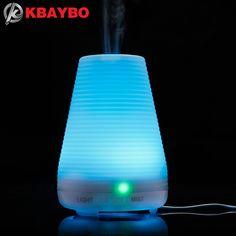 Difusor de Aceites esenciales, Aceite de aromaterapia Difusor Ultrasónico Aromaterapia Difusor Niebla Humidificador de Aire con 7 Que Cambia de Color LED