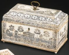 An Anglo-Indian engraved ivory tea caddy Vizagapatam, last quarter 18th century - Sotheby's
