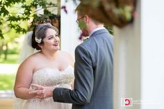 Bride and groom first look  at a romantic destination upstate New York wedding at The Appel Inn from Atlanta destination wedding photographers Matthew Druin + Co. Photography. NO TRAVEL FEES IN THE US!