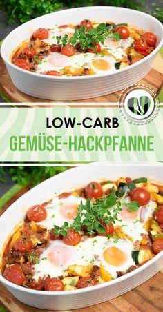 Die Gemüse-Hackpfanne mit Spiegelei ist Low Carb, glutenfrei, zuckerfrei und Milchproduktefrei. Dabei schmeckt es ausgezeichnet!