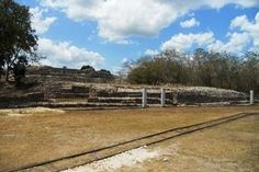 Tracks running from the fields, past the ruins, to the casa de maquinas