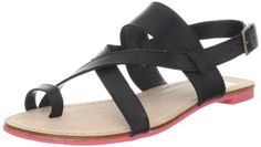 $69.00-$69.00 DV by Dolce Vita Women's Pansey Sandal,Black Leather,10 M US - Simplify your look in the stylish Pansey sandals from dv by dolce vita.Leather upper in a flat sandal style with a round, open toeSimple toe loopCrisscross strap detail at the vampHeel sling strap with an adjustable buckleSmooth lining, cushioning insoleTraction outsole, flat heel http://www.amazon.com/dp/B005TGXFQQ/?tag=icypnt-20