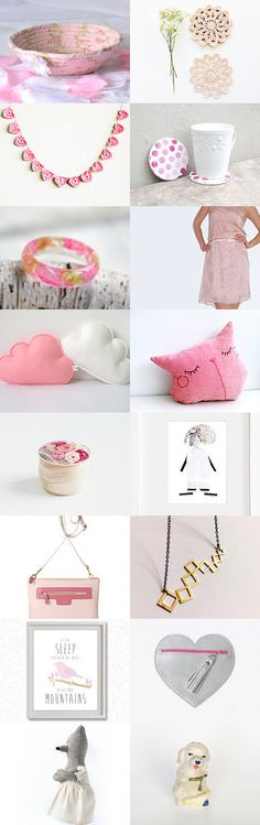 ☆☆☆ by Georgia on Etsy--  So many lovely pink gifts in this Etsy Treasury.  Great collection of unique, handmade items.  Handmade basket, bowl.  Pinned with TreasuryPin.com