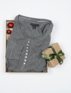 CASHMERE HENLEY WOMENS SWEATER #TRholiday13