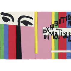 Tate custom print: Matisse Design for cover of exhibition catalogue