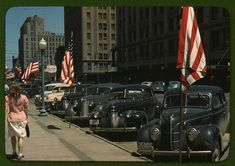 Rare Color Photos Of Main Street From The 1940s
