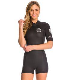 3e40c7cb5a Rip Curl Women s 2mm Dawn Patrol Back Zip S S Springsuit Wetsuit at  SwimOutlet.
