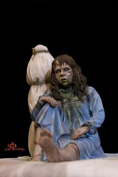 Scary Halloween Costumes, Halloween Fun, Linda Blair, The Exorcist, Scary Movies, The Conjuring, Action Figures, Horror, Statue
