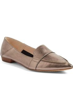 Bronze pointy toe flat