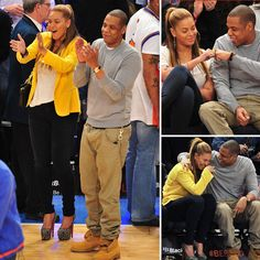 Amazing Couple, And both very talented artists.   Beyoncé and Jay-Z Get In on the Linsanity With Knicks Outing in NYC!