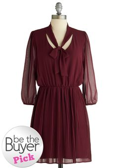 Add some oxford heels and black tights and you're set!