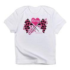 Pink Racing Flags Infant T-Shirt on CafePress.com