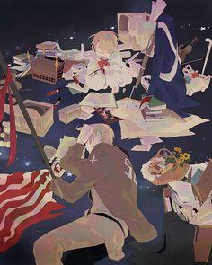 Hetalia (ヘタリア) - America/The United States (アメリカ) - Art by Mebouki