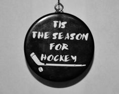 Hockey Puck Wreath with Monogram by JRacres on Etsy