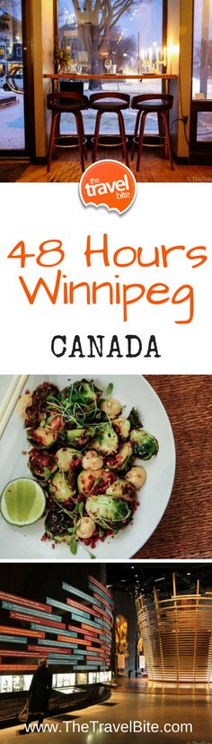 48 Hours In Winnipeg – The Travel Bite - - What do you do when your travel plans unexpectedly change and you have 48 hours in Winnipeg? Eat amazing food, then zen out with spa time and yoga. Canada Destinations, Western Canada, Visit Canada, Newfoundland And Labrador, Prince Edward Island, Canada Travel, Usa Travel, New Brunswick, North America